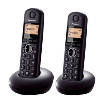 """Безжичен телефон Panasonic KX-TGB212FXB, 1.4""""(3.56 cm) монохромен дисплей, черен image"""