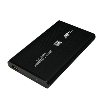 """Кутия 2.5""""(6.35 cm), LogiLink UA0041B, за 2.5"""" SATA HDD, USB 2.0, алуминий, черна image"""