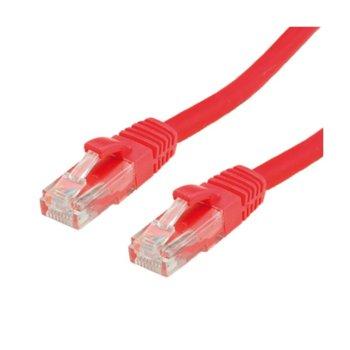 Пач кабел, Roline, UTP, Cat.6, 0.5m, червен image