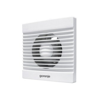 Вентилатор за баня Gorenje BVN100WS, 100mm. диаметър, капацитет 70 m³/h, 2400 обр./мин, 15W, бял image