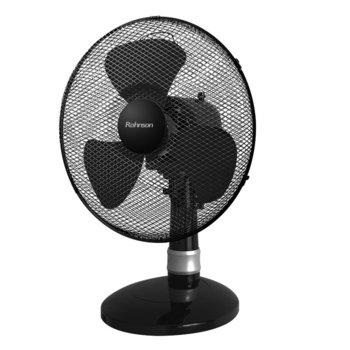 Настолен вентилатор Rohnson R-837, 3 скорости, 40 см. диаметър, 50W, черен  image
