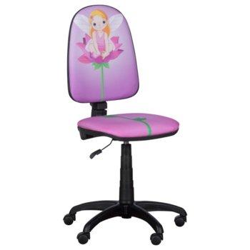 Детски стол Carmen Prestige, дамаска, газов амортисьор, полипропиленова база, коригиране височина, фея image
