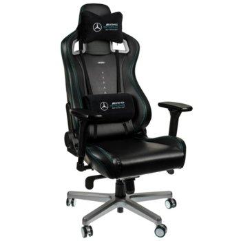 Геймърски стол noblechairs EPIC - Mercedes-AMG Petronas Motosport Edition, естествена кожа, черен image