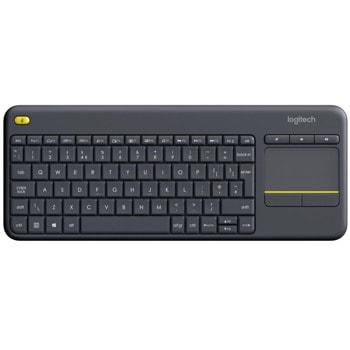 Клавиатура Logitech K400 Plus Touch, тъчпад, безжична, 10 метра обхват, черна, USB image