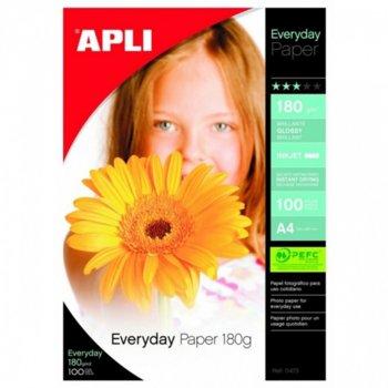Фотохартия Apli Photo Everyday, A4, гланцирана, 180 g/m2, 100 листа image