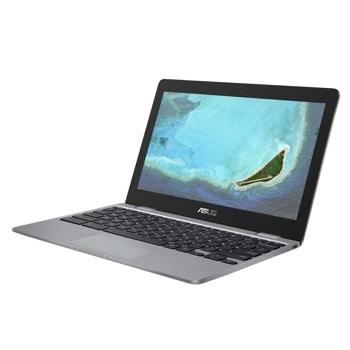 "Лаптоп Asus ChromeBook C223NA-GJ0055 (90NX01Q1-M01430)(сив), двуядрен Apollo Lake Intel Celeron N3350 1.1/2.4 GHz, 11.6"" (29.46 cm) HD Anti-Glare LED-Backlit Display, (HDMI), 4GB DDR4, 32GB eMMC, Chrome OS image"