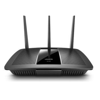 Рутер Linksys EA7300, 1750Mbps, 2.4GHz (300 Mbps)/ 5GHz (1404 Mbps), Wireless AC, 4x LAN1000Mbps, 1x WAN1000, 1x USB 3.0, 3x външни антени image