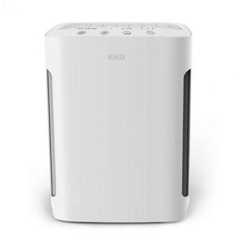 Пречиствател на въздух Muhler APM-200UV, 60W, 4 слоя на филтрация, НЕРА филтър, за помещения до 20кв.м., 90 m3/h, 3 скорости, таймер, функция Sleep, бял image