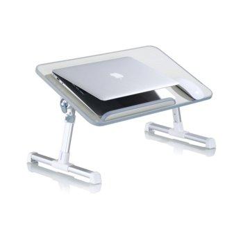 """Масичка-поставка за лаптоп до 15.6"""", тънък и елегантен дизайн, бежова image"""