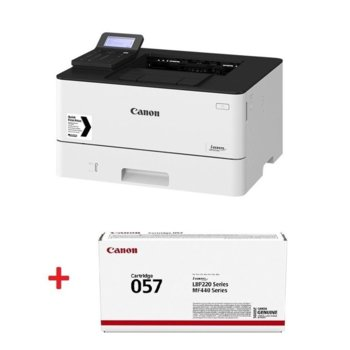 Лазерен принтер Canon i-SENSYS LBP223dw в комплект с тонер касета Canon CRG-057, монохромен, 600 x 600 dpi, 33 стр/мин, LAN, Wi-Fi, А4 image