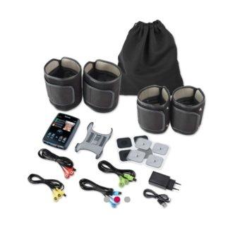 """Уред за мускулна стимулация Beurer EM 95 High-end EMS device, 4 канала, 4 гривни (за крака и ръце), 3 режима на сила, 40 програми, 3.5"""" (8.89 cm) TFT дисплей, Bluetooth, черни image"""