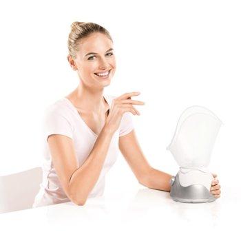 Сауна за лице Beurer FS 50, 120 W, 2 скорости, подходяща и за инхалации, бяла/сребриста image