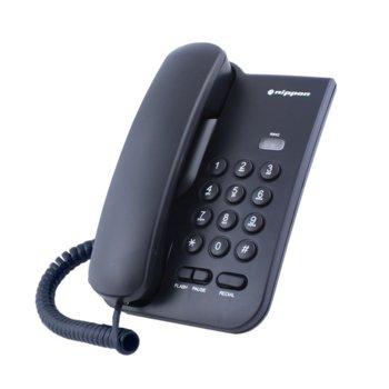 Стационарен телефон Nippon NP 2035, 1 линия, черен image