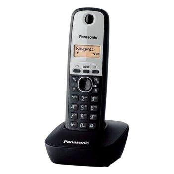 "Безжичен телефон Panasonic KX-TG1611GRG, 1""(2.54cm) LCD дисплей, интерком, адресна памет за 50 номера, черно-сребрист image"