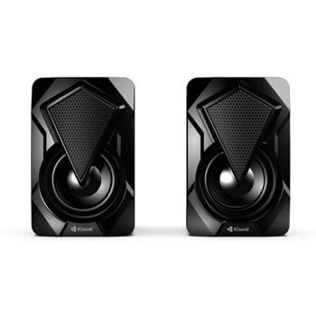 Мини Аудио Система Kisonli L-9090, 2.0, 2x3W, 3.5mm стерео, черен image