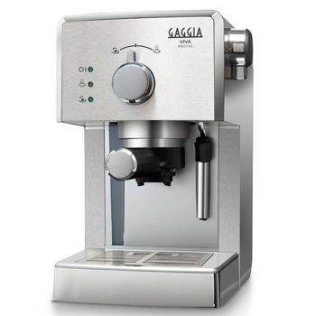 Кафемашина Gaggia Prestige RI8437/11, 1025W, 15 bar, Филтър под налягане Crema, сребристa image