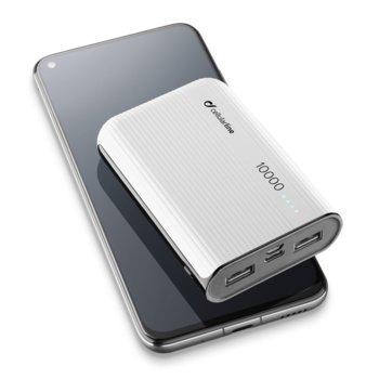 Външна батерия/power bank/ Cellularline PowerTank, 10000 mAh, бяла image