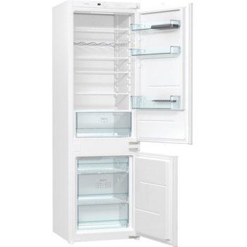 Хладилник с фризер Gorenje NRKI4182E1, клас F, 269 л. общ обем, за вграждане, NoFrost DualAdvance, CrispZone, EcoMode режим на пестене на енергия, бял image