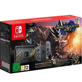 Конзола Nintendo Switch - Monster Hunter Rise Edition, 32GB, черна/сива image