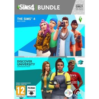 Игра The Sims 4 + Discover University Bundle, за PC image