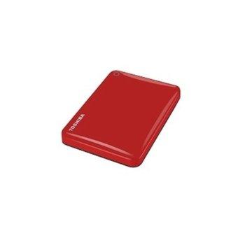 """Твърд диск 2TB Toshiba Canvio Alu Red (червен), външен, 2.5"""" (6.35 см), USB 3.0 image"""