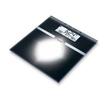 Цифров кантар Beurer BG 21,капацитет до 180 кг., автоматично вкл/изкл., LCD дисплей, компактен дизайн, черен image