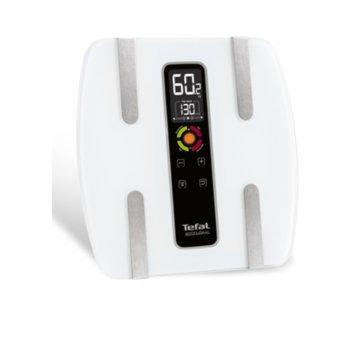 Цифров кантар Tefal Bodysignal BM7100S6, капацитет до 160 кг., LCD дисплей, бял image