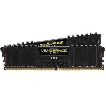 Памет 16GB (2x 8GB) DDR4 3000MHz, Corsair Vengeance LPX Black, CMK16GX4M2D3000C16, 1.35V image