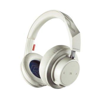 Слушалки Plantronics BackBeat GO 600, безжични/жични, микрофон, Bluetooth, AUX, Multipoint технология, кремав image