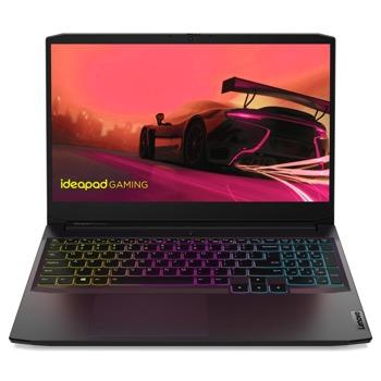 "Лаптоп Lenovo IdeaPad Gaming 3 15ACH6 (82K2007BRM), шестядрен AMD Ryzen 5 5600H 3.3/4.2GHz, 15.6"" (39.62 cm) Full HD IPS Anti-Glare Display & GF GTX 1650 4GB, (HDMI), 8GB DDR4, 512GB SSD, 1x USB 3.1 Type C, No OS image"