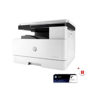 Мултифункционално лазерно устройство LaserJet MFP M436dn в комплект с тонер касета HP (CF256X) Black, монохромен принтер/копир/скенер, 1200x1200dpi, 23 стр/мин, USB 2.0, LAN, двустранен печат, A3 image