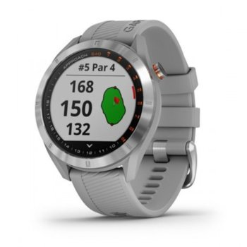Смарт часовник Garmin Approach S40, тип на дисплея MIP, GPS, следене на съня, отброяване на крачките, сив image