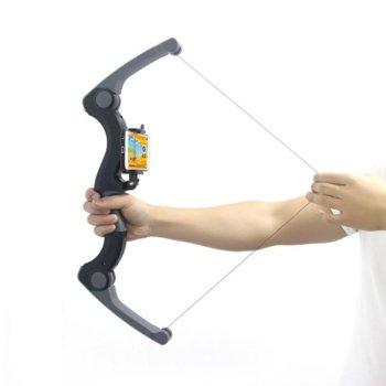 """Джойстик Shinecon AR Archer AB01, лък, Bluetooth, ергономичен дизайн, стойка съвместима с устройства до 6"""" (15.24 cm), черен image"""