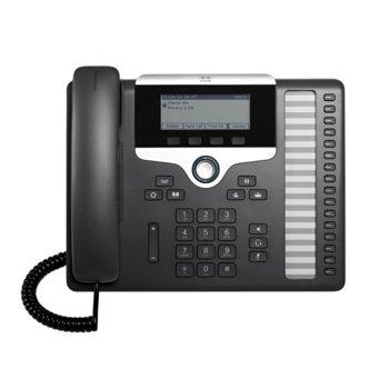 "VoIP телефон Cisco IP Phone 7861, 3.5"" (8.89 cm) 396×162pix чернобял дисплей, 2x LAN100 Base-TX, PoE, черен image"