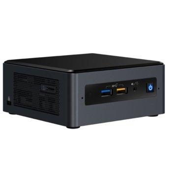 Мини компютър Barebone Intel NUC Kit NUC8i7BEH, четириядрен Coffee Lake Intel Core i7-8559U 2.7/4.5GHz, без памет (2x SODIMM DDR4, до 32GB), без HDD (M.2 SSD, 2x SATA 3), Wi-Fi, LAN, Bluetooth, USB-C 3.1 image