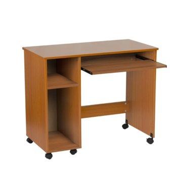 Компютърно бюро Carmen 30019, ПДЧ, меламиново покритие, кафяво-череша image