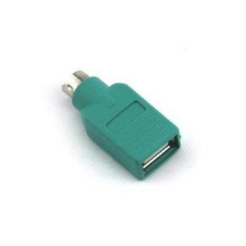 Адаптер VCom CA451 USB 2.0(ж)към PS2(м), зелен image