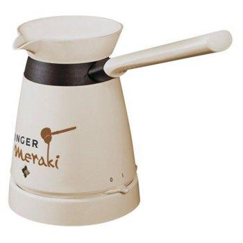 Електрическо джезве Singer Meraki, до 4 чашки кафе, 800 W, кремаво image