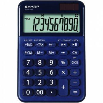 Калкулатор SHARP EL-760RBLA, 10 разряден дисплей, Memory функция, преобразуване на валута, син image
