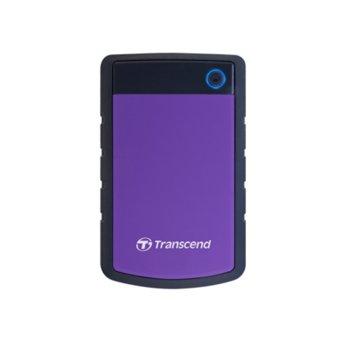 """Твърд диск 4TB Transcend StoreJet 25H3 (черно/лилав), външен, 2.5"""" (6.35 cm), USB 3.0 image"""