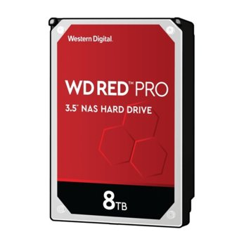 "Твърд диск 8TB WD Red PRO NAS, SATA 6Gb/s, 7200rpm, 256MB кеш, 3.5"" (8.89cm) image"