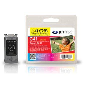Глава за Canon Pixma iP1600/2200 - Color - CL-41 - Неоригинална - Jet Tec - Заб.: 24ml image