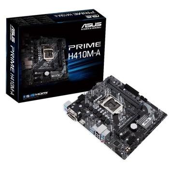 Дънна платка Asus PRIME H410M-A, H410, LGA1200, PCI-E 3.0 (HDMI&VGA&DVI-D), 4x SATA3, 1x M.2, 2x USB 3.2 Gen 1, mATX image