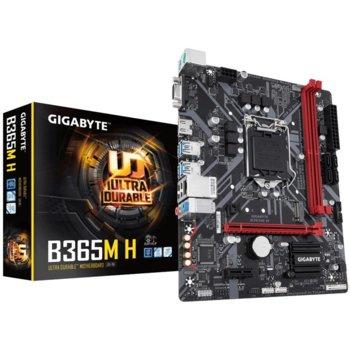 Дънна платка GIGABYTE B365M-H, Intel B365, LGA1151, DDR4, PCI-Е (HDMI&DVI), 4 x SATA 6Gb/s, 1 x M.2, 6 x USB 3.1 Gen 1, 6 x USB 2.0, Micro ATX image