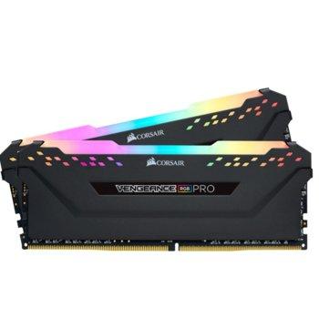 Памет 32GB (2x 16GB), 3000MHz, Corsair Vengeance RGB PRO CMW32GX4M2C3000C15, 1.35V image