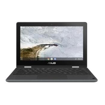 "Лаптоп Asus Chromebook Flip C214MA-BU0486 (90NX0291-M05780)(сив), двуядрен Gemini Lake Refresh Intel Celeron N4020 1.1/2.8 GHz, 11.6"" (29.46 cm) HD IPS Glare Touchscreen Display, (Type C), 4GB DDR4, 64GB eMMC, No OS image"
