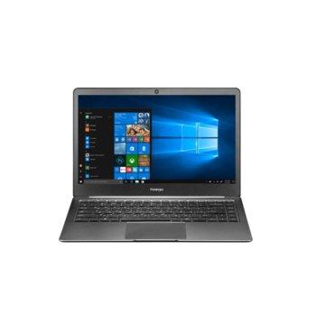 "Лаптоп Prestigio SmartBook 141S (PSB141S01CFPSSD_DG)(сив), двуядрен Apollo Lake Intel Celeron N3350 1.1/2.4 GHz, 14.1"" (35.81 cm) Full IPS Anti-Glare Display, (mHDMI), 4GB DDR, 32GB eMMC & 128GB SSD, 2x USB 3.0, Windows 10 Pro image"