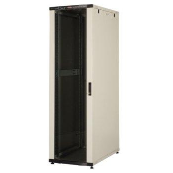 """Комуникационен шкаф Lande LN-CS36U6010-BL, 19"""", 36U, 600 x 1000 мм, перфорирана врата, LCD термометър, черен image"""