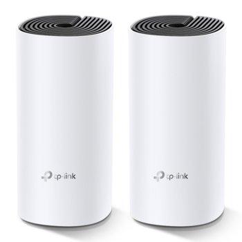 Безжична Wi-fi система TP-Link Deco M4 AC1200 (2-pack), 1167Mpbs, 2.4GHz 300Mbps/5GHz 867 Mbps, Wireless AC, 2x GBE, 2 вътрешни антени, Bluetooth image