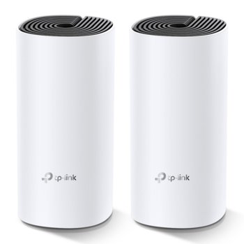 Безжична Wi-fi система TP-Link Deco M4 AC1200 (2-pack), 1167Mpbs, 2.4GHz 300Mbps/5GHz 867 Mbps, Wireless AC, 2x GBE, 2 вътрешни антени, Bluetooth image